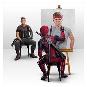 Deadpool. Размер: 30 х 30 см